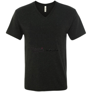 Lox, bagels & snow - unisex Next Level Men's Triblend V-Neck T-Shirt