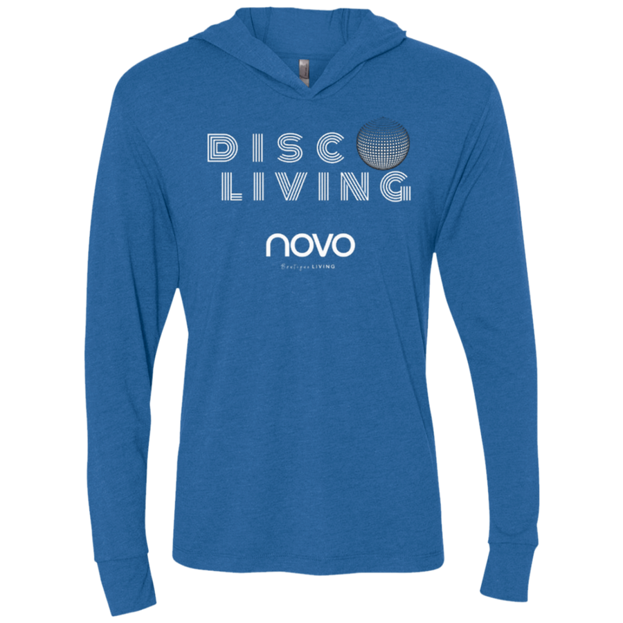 DISCO LIVING NOVO - Next Level Unisex Triblend LS Hooded T-Shirt