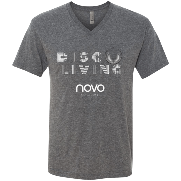 DISCO LIVING - Next Level UNISEX Triblend V-Neck T-Shirt