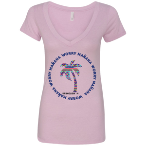 NL6640 Next Level Ladies' Deep V-Neck T-Shirt