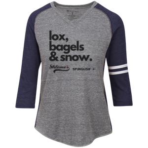 lox, bagels & snow - Holloway Ladies' Vintage V-Neck T-Shirt