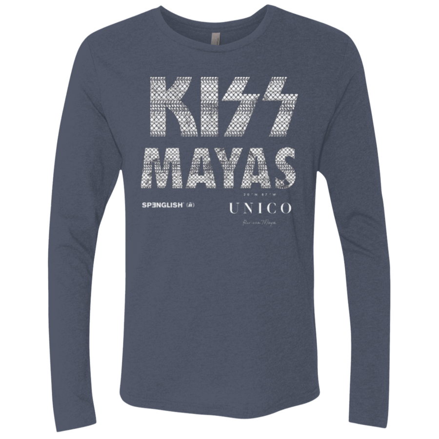 KISS MAYAS UNICO - Next Level UNISEX Triblend LS Crew