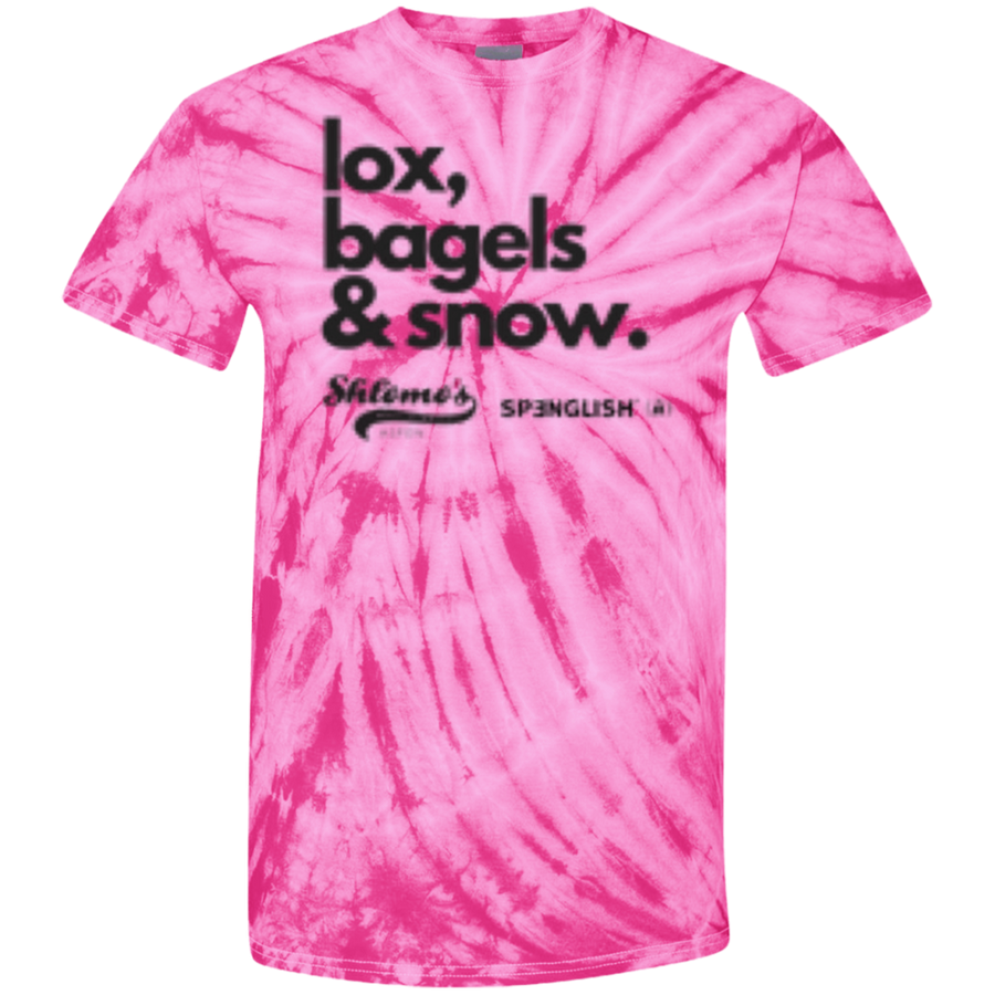 Lox, bagels & snow - unisex 100% Cotton Tie Dye T-Shirt
