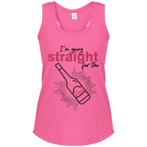 straight for the Rose -  Women's Perfect Tri Racerback Tank