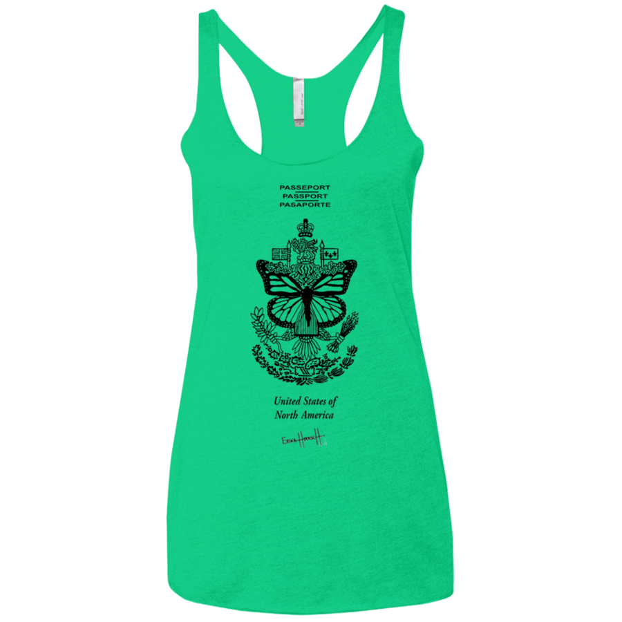 United States of Norh America - Next Level Ladies' Triblend Racerback Tank