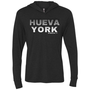 HUEVA YORK - Next Level Unisex Triblend LS Hooded T-Shirt