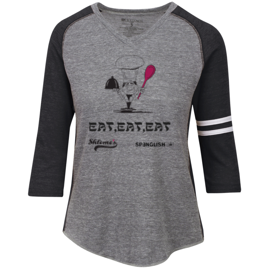 EAT EAT EAT Ladies' Vintage V-Neck T-Shirt