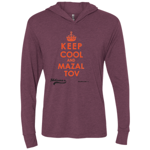 Keep Cool and Mazalto - Next Level Unisex Triblend LS Hooded T-Shirt
