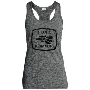 Hecho Desmadre - Ladies' Moisture Wicking Electric Heather Racerback Tank