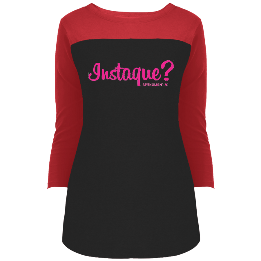 INSTAQUE? - District Juniors' Rally 3/4 Sleeve T-Shirt