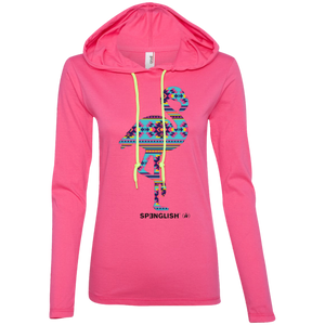 FLAMINGO AZTECA - Anvil Ladies' LS T-Shirt Hoodie