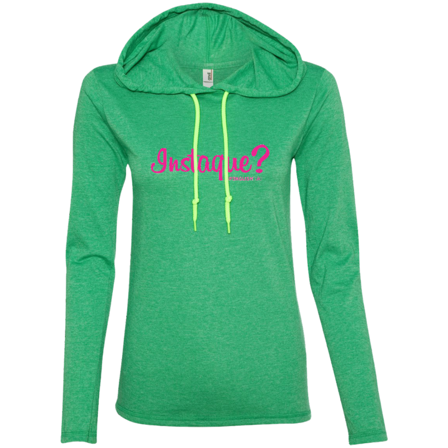 INSTAQUE? Anvil Ladies' LS T-Shirt Hoodie
