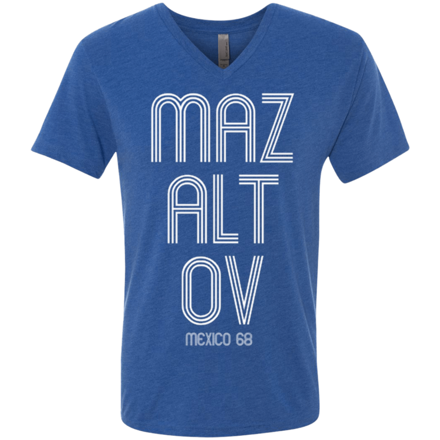 MAZALTOV mexico 68 Next Level Men's Triblend V-Neck T-Shirt