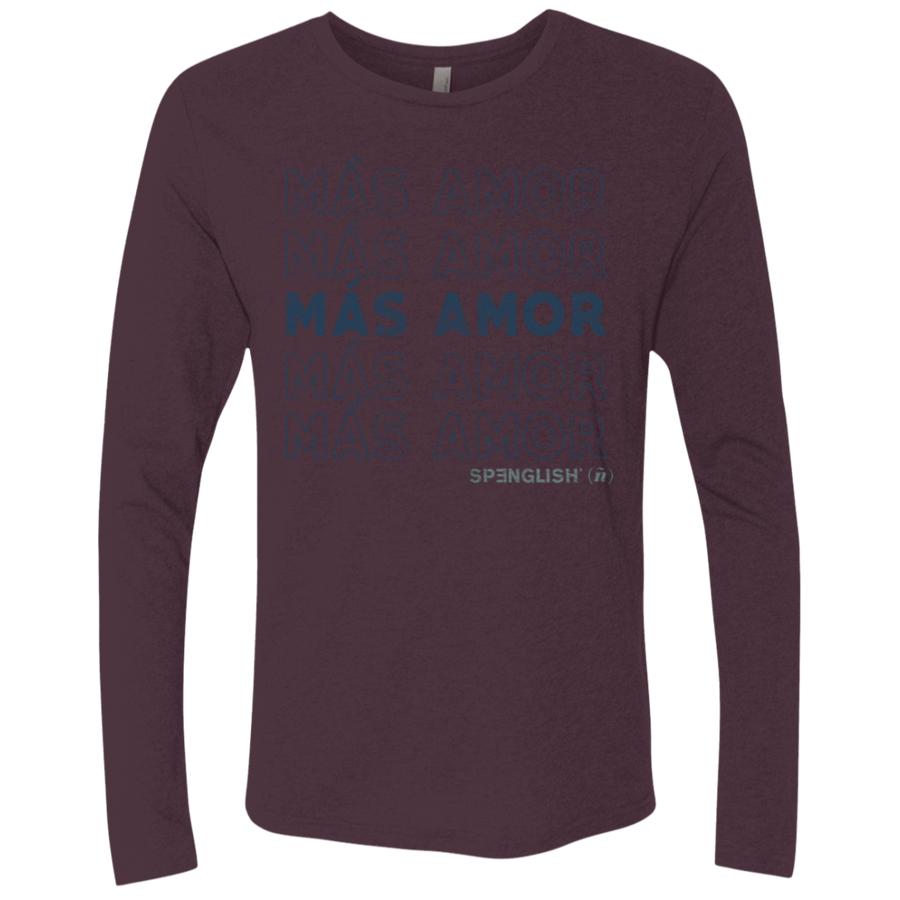MAS AMOR -1 Next Level UNISEX Triblend LS Crew