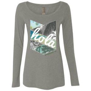HOLA - Next Level Ladies' Triblend LS Scoop