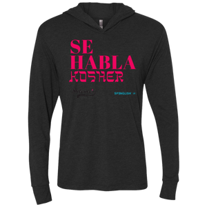 Se habla Kosher - Next Level Unisex Triblend LS Hooded T-Shirt