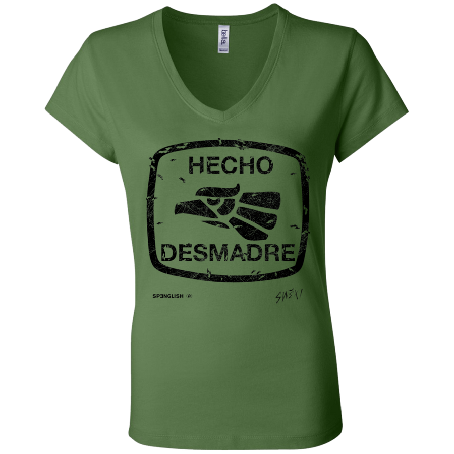 HECHO DESMADRE - Bella + Canvas Ladies' Jersey V-Neck T-Shirt