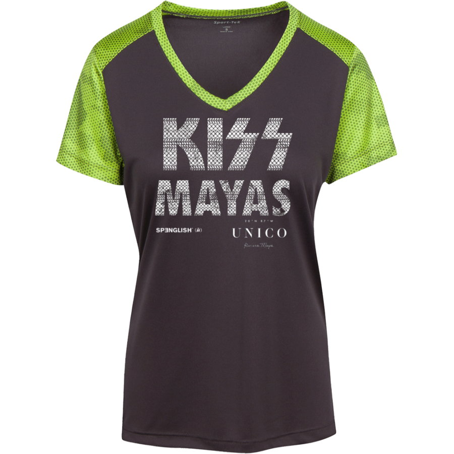 KISS MAYAS UNICO - Sport-Tek Ladies' CamoHex Colorblock T-Shirt