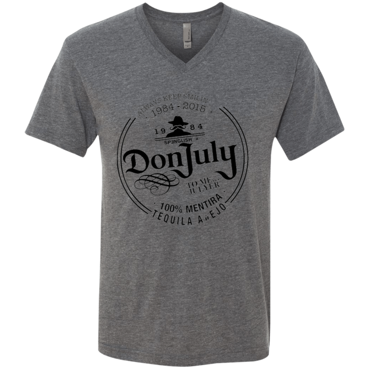 DON JULY - Next Level unisex Triblend V-Neck T-Shirt