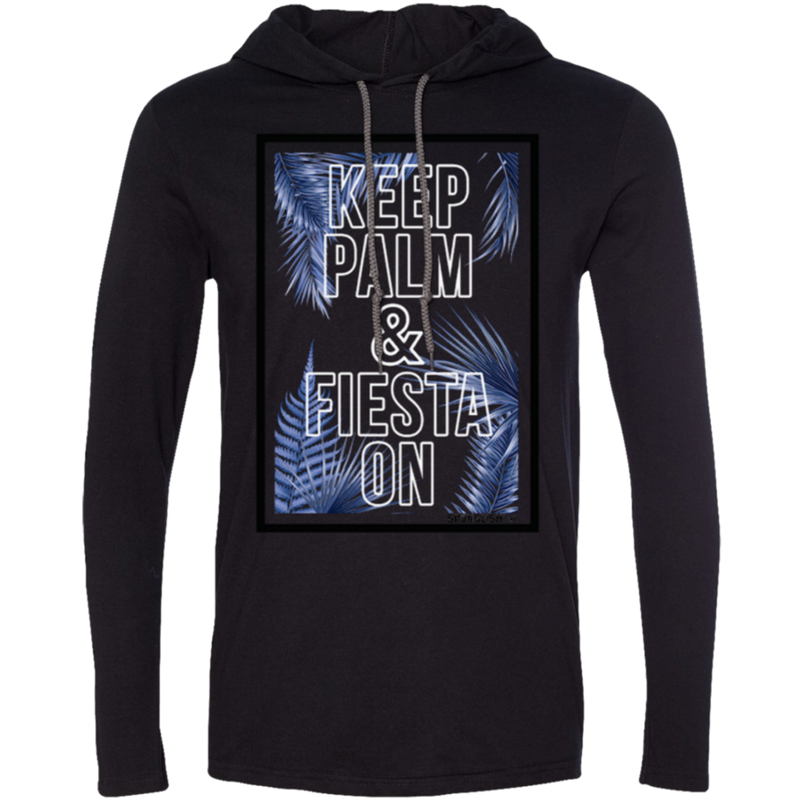 Keep Palm and Fiesta On - Anvil LS T-Shirt Hoodie