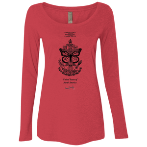 United States of North America - Next Level Ladies' Triblend LS Scoop