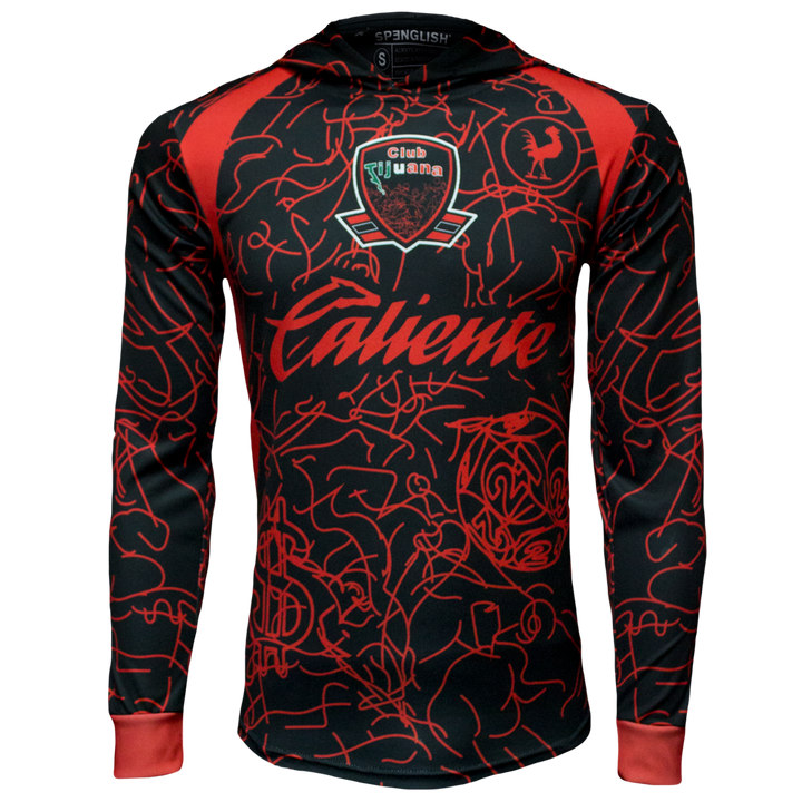 CLUB TIJUANA CASA / HOME - LONG SLEEVE JERSEY HOODIE - EDICION RETRO XOLOS