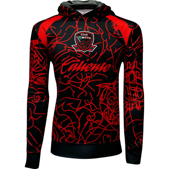 CLUB TIJUANA CASA / HOME - LONG SLEEVE FLEECE HOODIE -EDICION RETRO