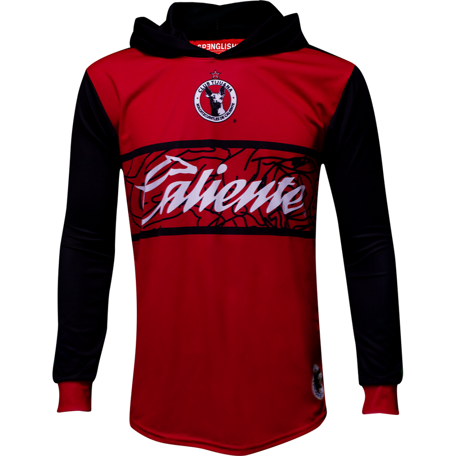 XOLOS RETROROJA  LONG SLEEVE JERSEY HOODIE - EDICION RETRO XOLOS RED