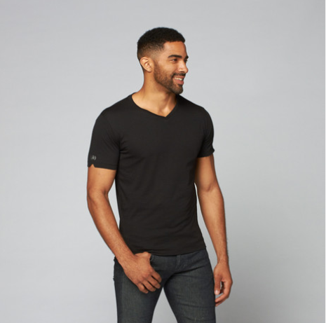 Pima V-Neck // Black  - 100% PIMA Made with love in Peru