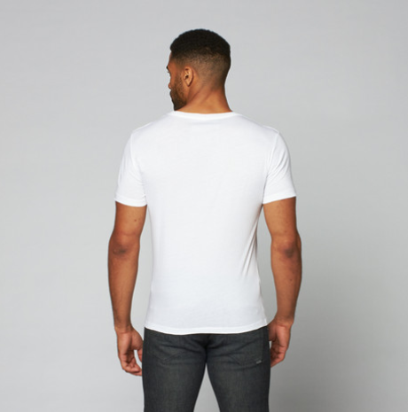 Pima V-Neck // White - 100 % Pima made with love in Peru