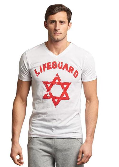 LIFEGUARD ✡ - Unisex Short Sleeve V-Neck T-Shirt