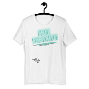 Free Fortnite - Short-Sleeve Unisex T-Shirt Neon Sign