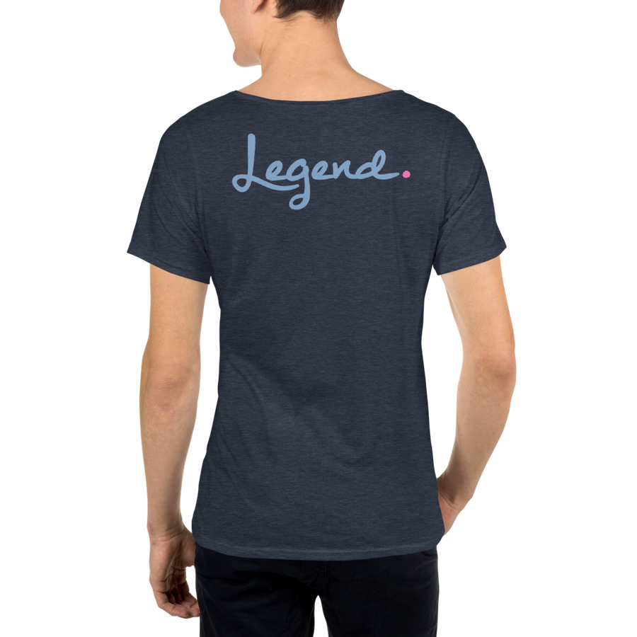 Legend - Classic PinkDot - Men's Raw Neck Tee