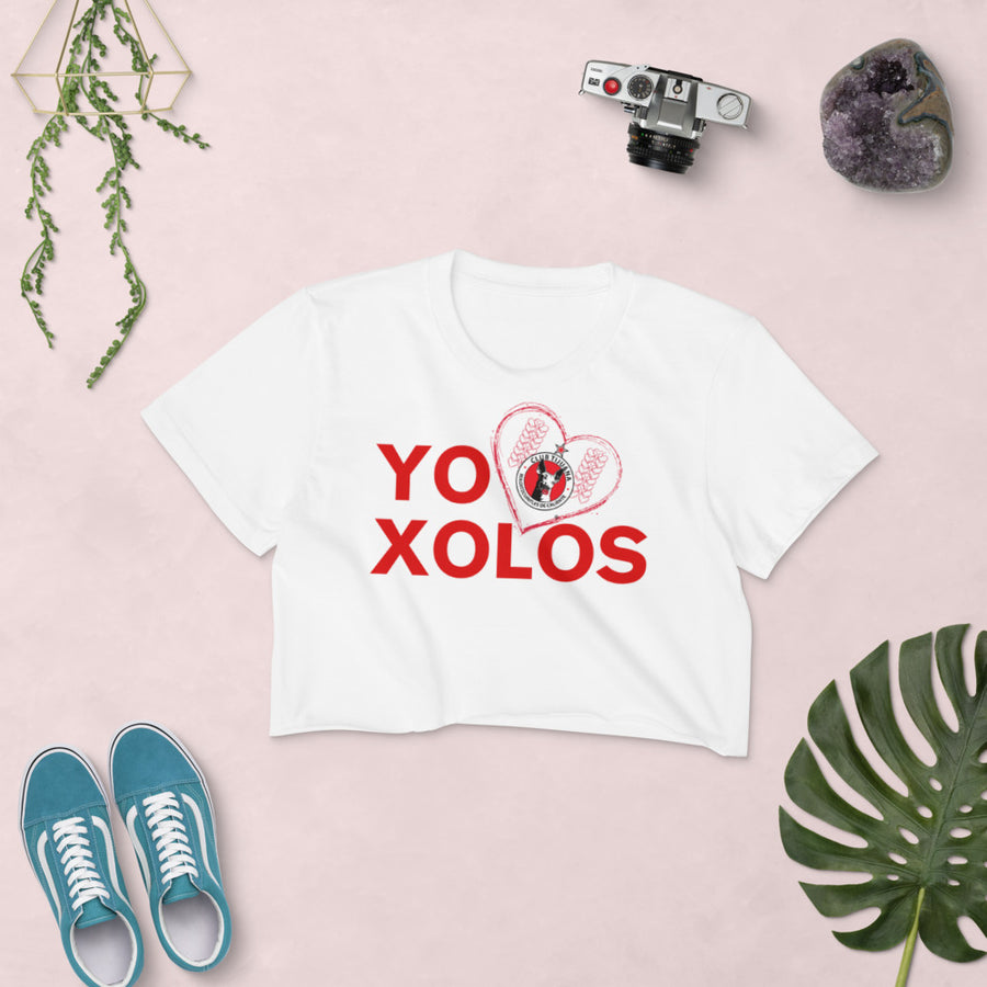 YO (heart) XOLOS - Women's Crop Top