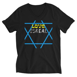 LOVE ISREAL - Unisex Short Sleeve V-Neck T-Shirt