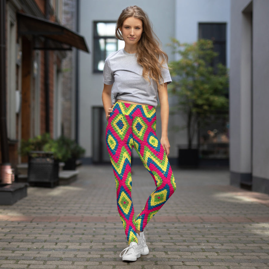 wayuu neons leggings cool -Yoga Leggings