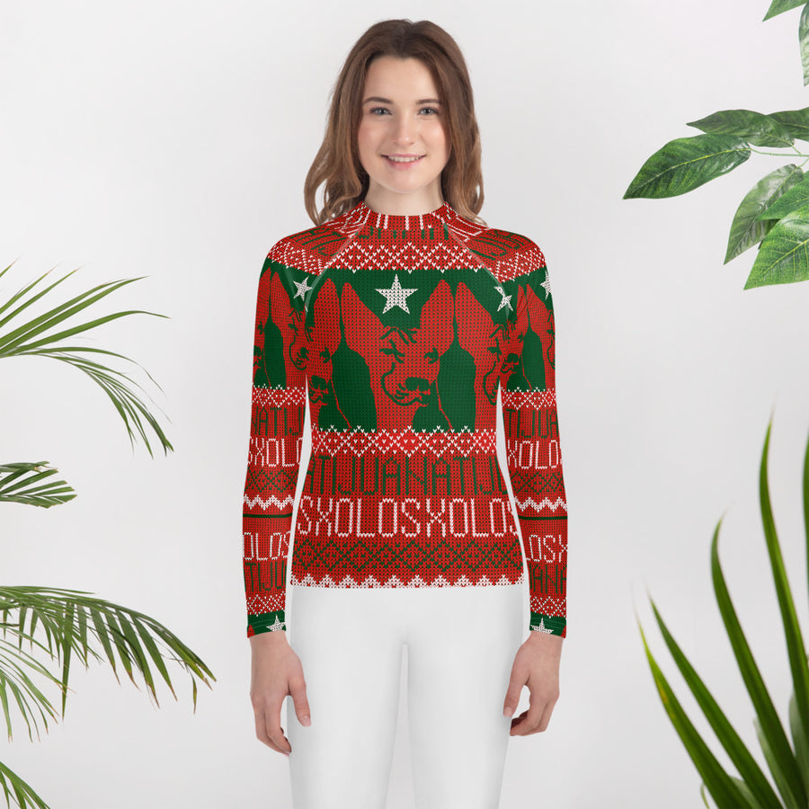 XOLOS XMAS RUDILF - Youth Rash Guard