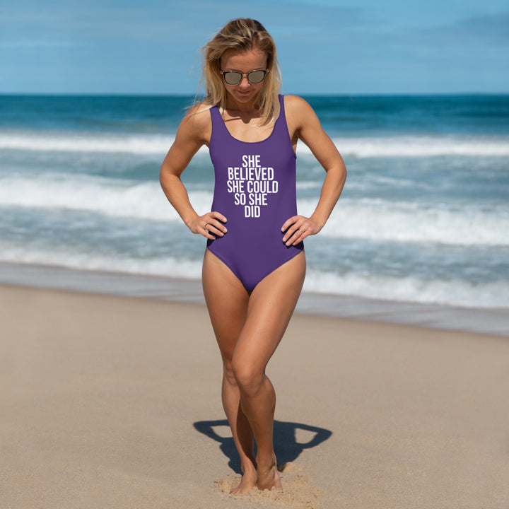 SHE BELIEVED SHE COULD - One-Piece Swimsuit