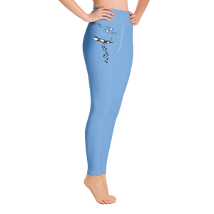 MAKE AMOR NOT WAR - Yoga Leggings baby blue