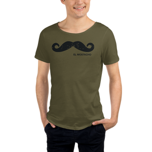El Mostacho - Men's Raw Neck Tee