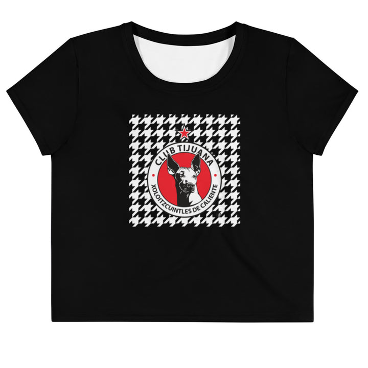 XOLOS HOUNDSTOOTH - All-Over Print Crop Tee
