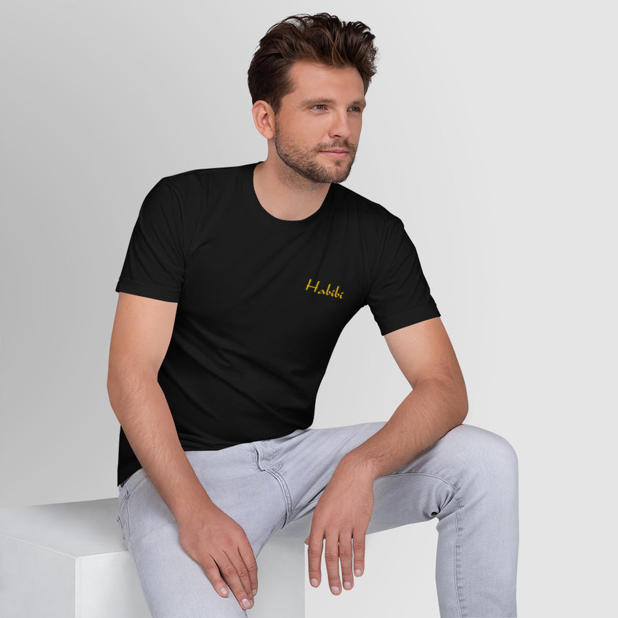 Habibi - Embroidered T-Shirt Gold