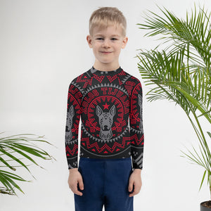 XOLOS XMAS PERRA NEGRA - Kids Rash Guard
