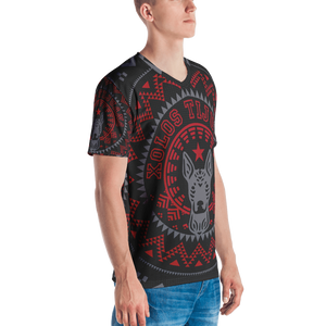 XOLOS XMAS PERRA NEGRA - Men's V-neck T-shirt
