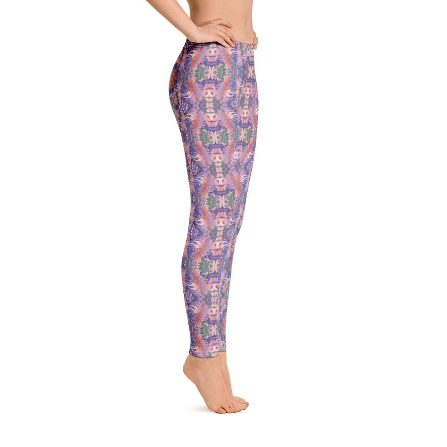 tropical rose pattern - Leggings
