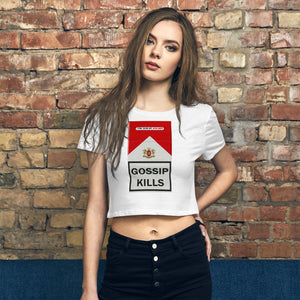GOSSIP KILLS - Women's Crop Tee