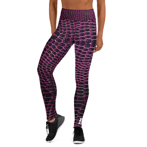 XOLO GIRLS - Purple alligator skin Yoga Leggings