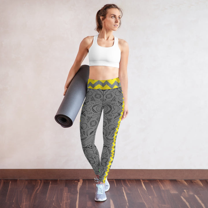 wayuu veggies oga - Yoga Leggings