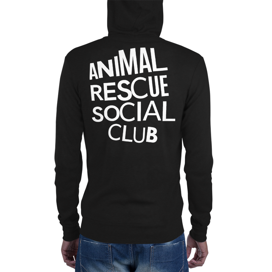 Animal Rescue Social Club - Unisex zip hoodie Exclusively for Black Jaguar White Tiger Foundation