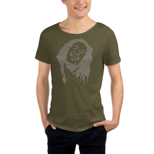 Everything's gonna be arrraaaight - Men's Raw Neck Tee Bob Marley